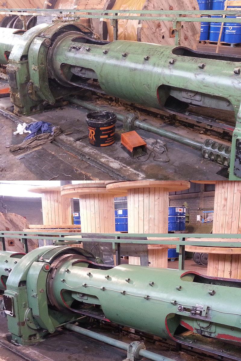 Spezialreinigung von Industriemaschinen durch die Fa. WARDAWAS GmbH