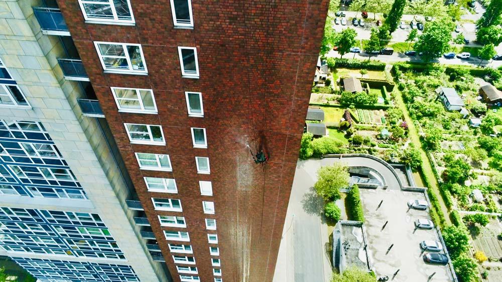 NACHHER Turm Plaza Fassadenreinigung Graffitientfernung WarDaWas Berlin Brandenburg
